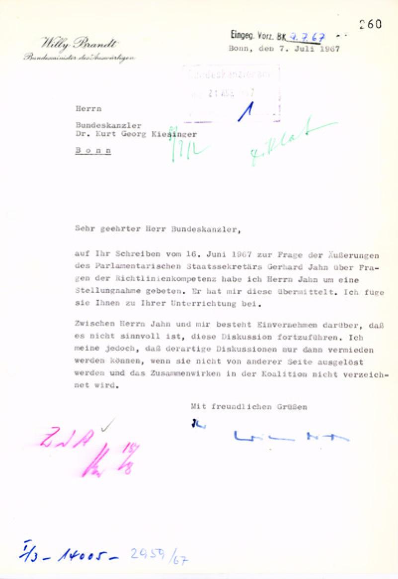 Bundesarchiv Internet - 1. Dezember 1966: Die Große Koalition