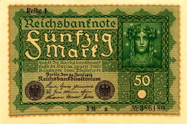 Reichsbanknote 50 Mark, 24. Juni 1919