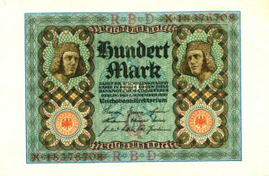 Reichsbanknote 100 Mark,1. November 1920