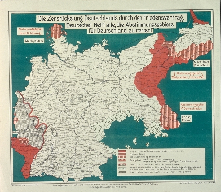 Gebietsverluste Versailler Vertrag