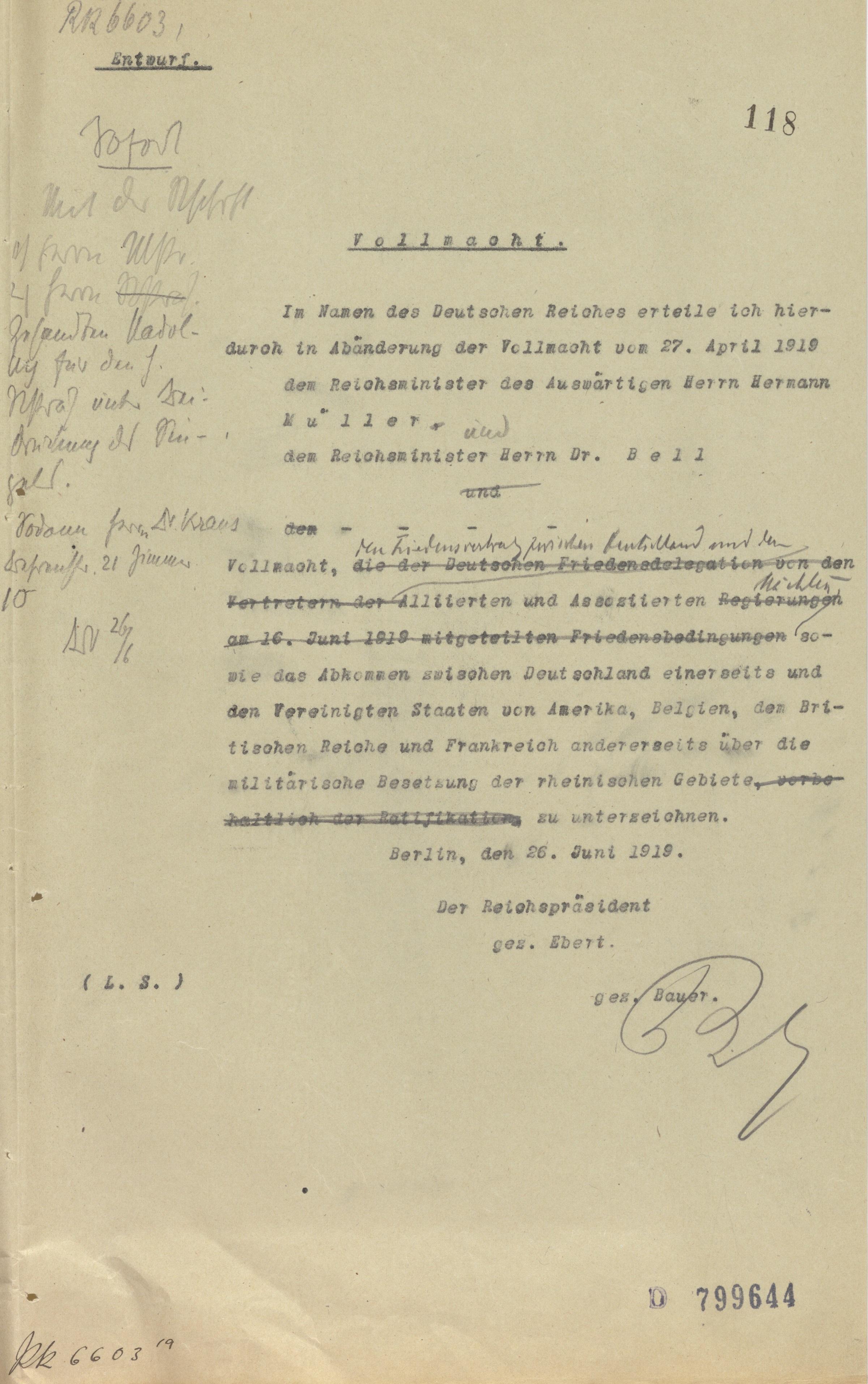Inhalt Versailler Vertrag
